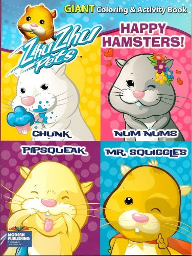 Zhu Zhu Pets Giant Coloring and Activity Book ~ Happy Hamsters (96 Pages) - 1