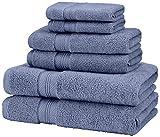 Pinzon 650-Gram Pima Cotton 6-Piece Towel Set, Royal Blue