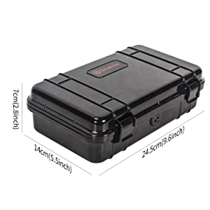 Smatree Waterproof Hard Case Compatible for Gopro Hero 8/7/6/5/Hero 2018 (Camera and Accessories NOT Included) (Color: GA150, Tamaño: Small)