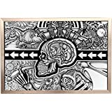 Framed The Conscious Existence 36x24 Poster In Brushed Champagne Finish Wood Frame Art Print