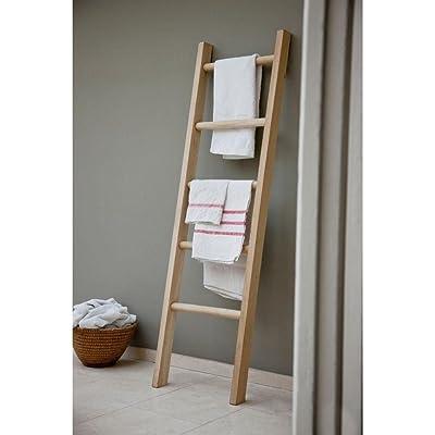 Natural oak towel ladder