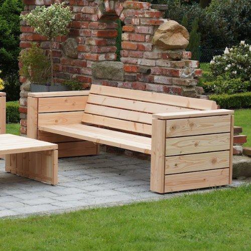 binnen-markt Lounge Sofa 3/4-Sitzer Heimisches Holz Douglasie Natur