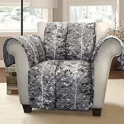 Lush Decor Forest Furniture Protector for Armchair, Gray/Black