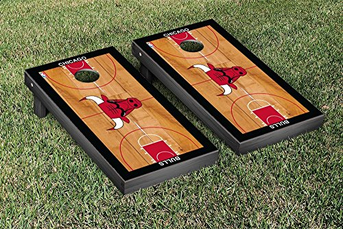 Chicago Bulls NBA Basketball Cornhole Game Set Basketball Court Version (Chicago Bulls Corn Hole compare prices)
