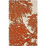 Safavieh Bella Collection BEL115B Handmade Wool Area Rug, 4-Feet by 6-Feet, Beige and Terracotta