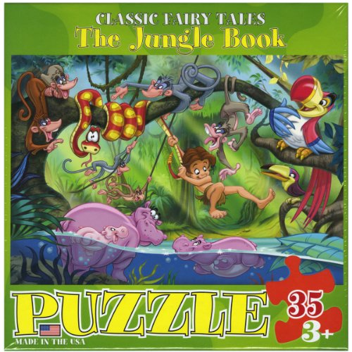 "Jigsaw Puzzle 35 Pieces 13""X10""-The Jungle Book - 1"