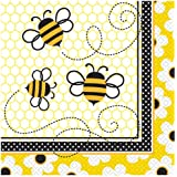 Unique Bumble Bee Luncheon Napkins (16 Count), Yellow