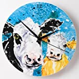Country Kitchen Cow Clock