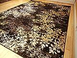 Large 8x11 Rugs Contemporary Tree Leaf Brown Black Beige Cream Modern Rug 5x8 Carpet Living Room 8x10 Rug Black 5x7 Rug (Medium 5x8)