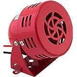 Vixen Horns Loud 110dB Electric Motor Driven Horn/Alarm/Siren (Air Raid) Small/Compact Red 12V VXS-9050C (Color: Red, Tamaño: Vehicle Red (Mini))