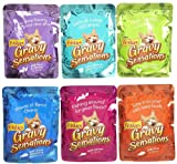 Friskies Wet Cat Food, Gravy Sensations, 6-Flavor Variety Pack, 3-Ounce Pouches, Pack of 24