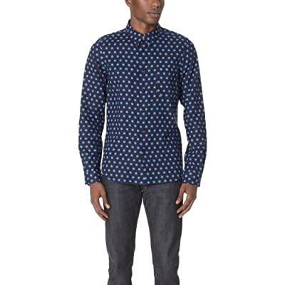 PS by Paul Smith メンズ トップス シャツ Tailored Fit Shirt with Blue Stars [並行輸入品]