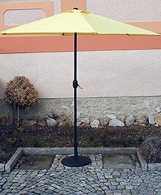 Sonnenschirm gelb mit Kurbel, ca 270 cm Ø