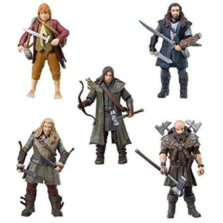 The Hobbit - BD16061 - Pack de 5 Figurine Collector - 9 cm