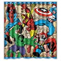 Marvel Comics Superheroes Shower Curtain