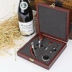 Wineophile Wood Wine Accessory Kit