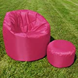 XL Bean Bag with Handle by Bean Bag Bazaar® - Indoor/Outdoor Extra Large Bean Bags PINK