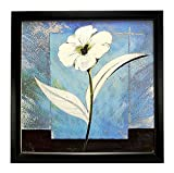 WHITE FLOWER WALL HANGING PHOTO FRAME