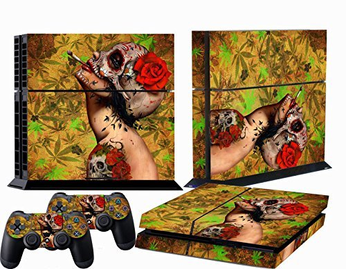 Chic Luxuriant Custom Skull Sticker Set for PS4 Console Controller Protector Skins 1 pc by ChicConsole (Custom Skins For Ps4 compare prices)