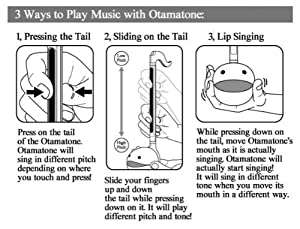 Otamatone [Color Series] Japanese Electronic Musical Instrument Synthesizer by Cube / Maywa Denki, Blue (Color: blue)