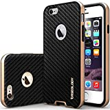 "iPhone 6 Case, Caseology [Bumper Frame] Apple iPhone 6 (4.7"" inch) Case [Carbon Fiber Black] Slim Fit Skin Cover [Shock Absorbent] TPU Bumper iPhone 6 Case [Made in Korea] (for Apple iPhone 6 Verizon, AT&T Sprint, T-mobile, Unlocked)"