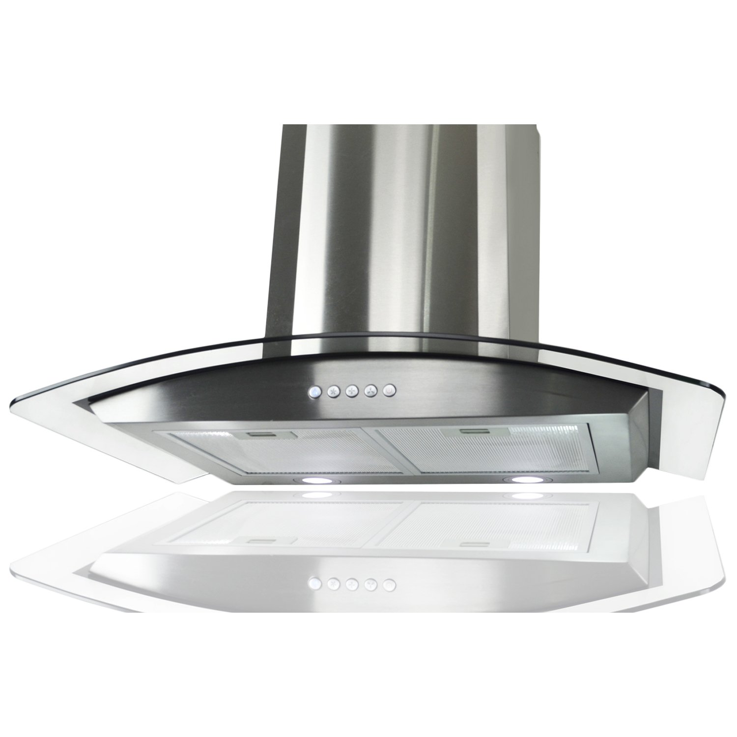 "AKDY 30"" Stainless Steel AZ668A-75 Wall Mount Push Button Range Hood"