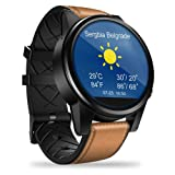 Zeblaze Thor 4 PRO 4G SmartWatch, 1.6 Inch Crystal Display GPS/GLONASS Quad Core 16GB 600mAh Hybrid Leather Straps Smart Watch with 5.0MP Camera for Men iOS/Android System (Color: Brown)