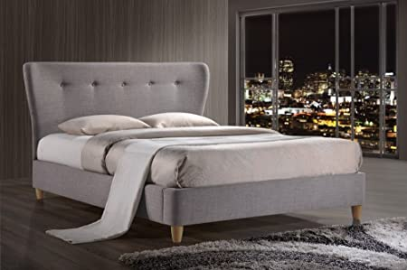 Birlea Kensington 5ft King Fabric Bed, Grey