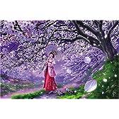1000ピース ジグソーパズル 桜風 (50x75cm)