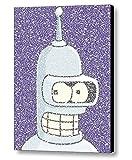 Futurama Bender Quotes Mosaic Incredible Framed 9x11 Limited Edition Art Print W/coa