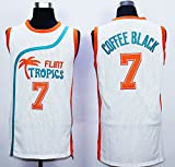 Mens Flint Tropics Movie #7 COFFEE Black Basketball jersey Stitched QIUYI-001