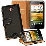 OneFlow PREMIUM - Book-Style Case im Portemonnaie Design mit Stand-Funktion - für HTC ONE S - SCHWARZ