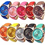 WILLTOO 10pc Women's Wholesale Roman Numerals Faux Leather Analog Quartz Watch