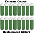 Extreme Coarse Micro Mineral Emjoi Micro-Pedi Compatible Replacement Rollers for Extremely Rough and Tough Calluses (16 pack)