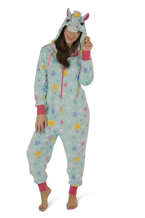 dELiA*s Girls Cat Blue Soft Plush Hooded One-Piece Pajamas