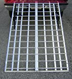 "Motorcycle ATV Folding Loading Ramp Aluminum 1200lbs Rated 71"" Long 44"" Wide"
