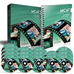 MCAT VisualAid - 36 Hours of Comprehensive Video MCAT Review &amp; Test Prep on 15 DVDs + PDF, MCAT Audio Review on MP3 &amp; MCAT Test Software