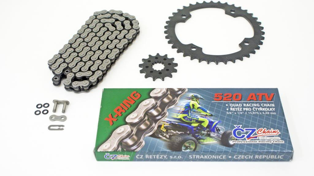 2004 YAMAHA YFZ450 CZ ATV X RING CHAIN & SPROCKET SET 13/38 520X120 +4 SWINGARM