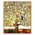 Art Nouveau Artist Gustav Klimt's Tree of Life Detail Counted Cross Stitch Chart/Graph