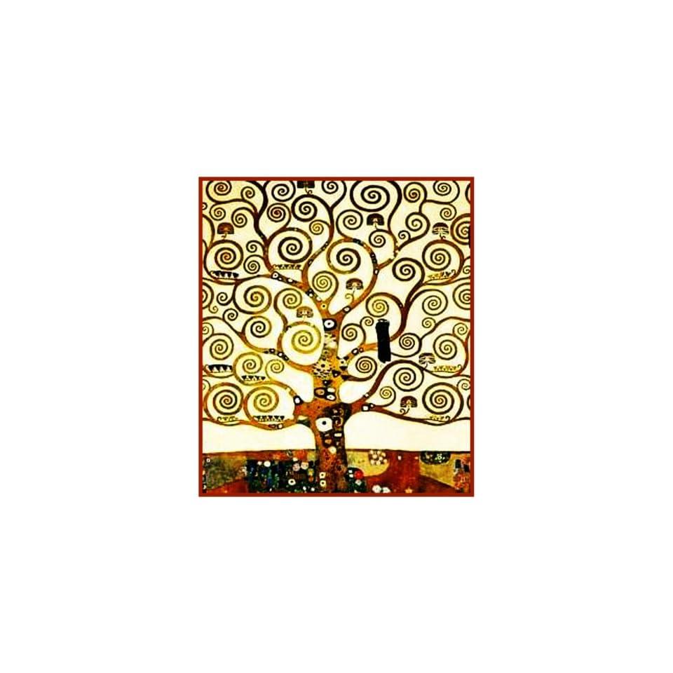 Art Nouveau Artist Gustav Klimts Tree of Life Detail Counted Cross Stitch Chart/Graph