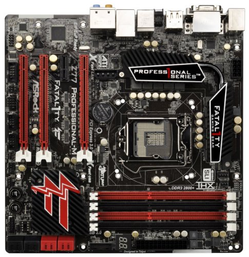 AS Rock LGA1155 Intel Z77 Quad CrossFirex Quad SLI SATA3 USB3 0 A GbE MATX Motherboard Z77 PROFESSIONAL M