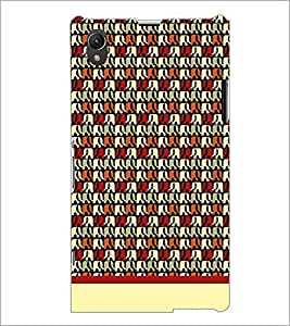 PrintDhaba Elephant Pattern D-1906 Back Case Cover for SONY XPERIA Z1 (Multi-Coloured)