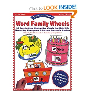 Turn-to-Learn: Word Family Wheels (Grades PreK-2)