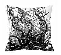 "Octopus Throw Pillow Case Octopu Eatting A Pirate Canvas Accent Pillows 18 x 18"" Pillow Sham from Fiuoleiw"