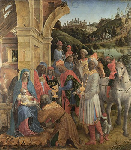 [Oil Painting 'Vincenzo Foppa-The Adoration Of The Kings,1500', 24 x 27 inch / 61 x 70 cm , on High Definition HD canvas prints is for Gifts And Dining Room, Game Room And Laundry Room Decoration,] (Social King Costume)