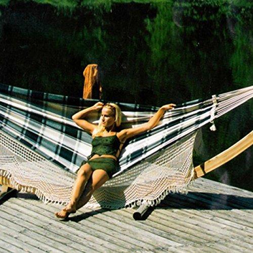 Brasil Rosato Gigante grün-natur Luxus XXXL Hängematte hochwertig