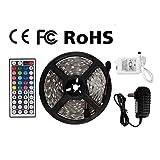 Z LED Strip Lights Waterproof Tape Lights Dimmable LED Lights Kit 16.4ft DC 12V 150 Units 5050 RGB LED TV Backlight Stri