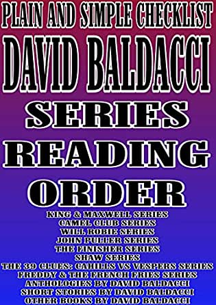 Amazon.com: DAVID BALDACCI :SERIES READING ORDER : PLAIN AND SIMPLE CHECKLIST[KING & MAXWELL