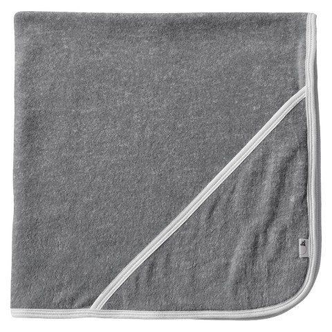 Burt's Bees Baby Organic Double Ply Hooded Knit Terry Towel - Heather Grey - 1