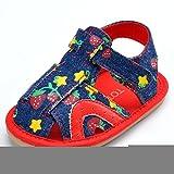 estamico Denim Patrón Baby Sandalias con parte inferior resistente al desgaste rojo rosso Talla:12-18 meses